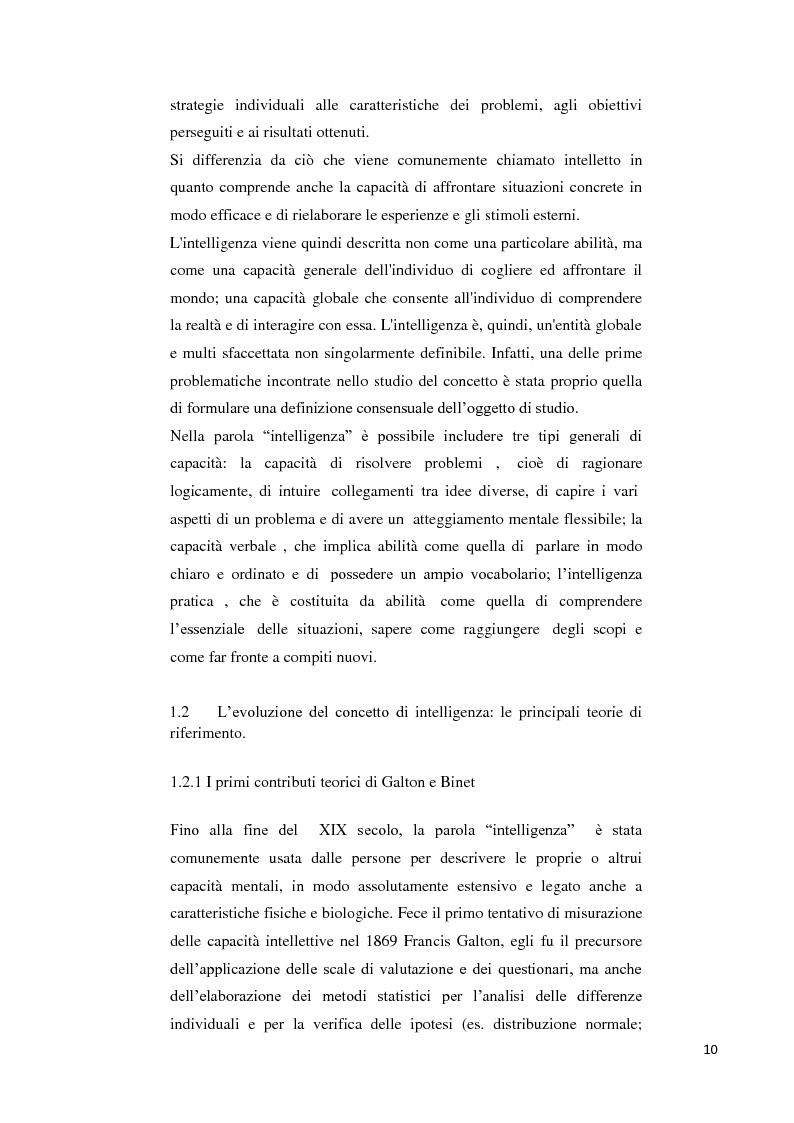 Anteprima della tesi: Contributo alla taratura italiana della WISC IV: analisi dei subtest di performance, Pagina 6
