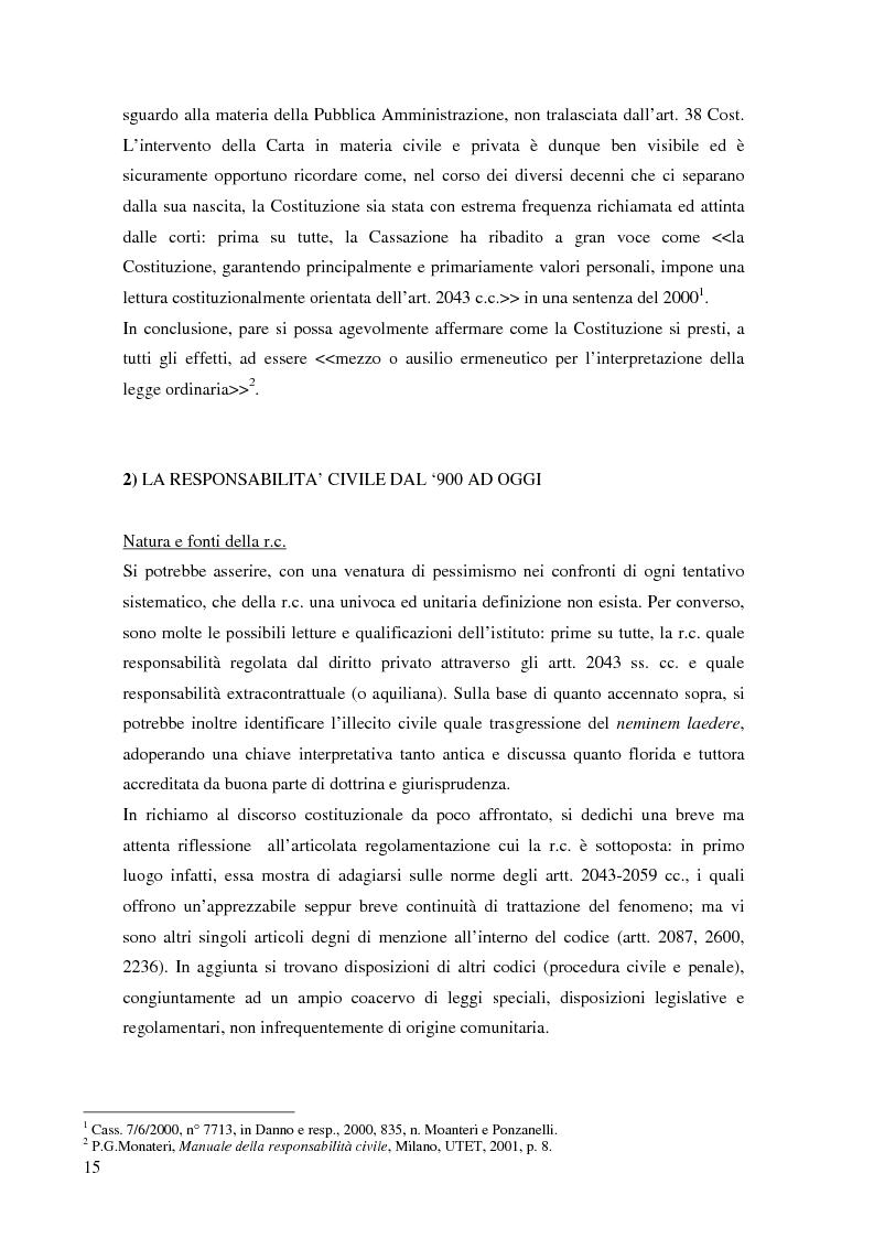 Anteprima della tesi: La risarcibilità del credito da morte del debitore nell'ordinamento italiano: un particolare sguardo alle vicende Superga e Meroni., Pagina 4