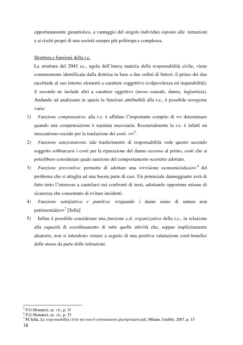 Anteprima della tesi: La risarcibilità del credito da morte del debitore nell'ordinamento italiano: un particolare sguardo alle vicende Superga e Meroni., Pagina 7