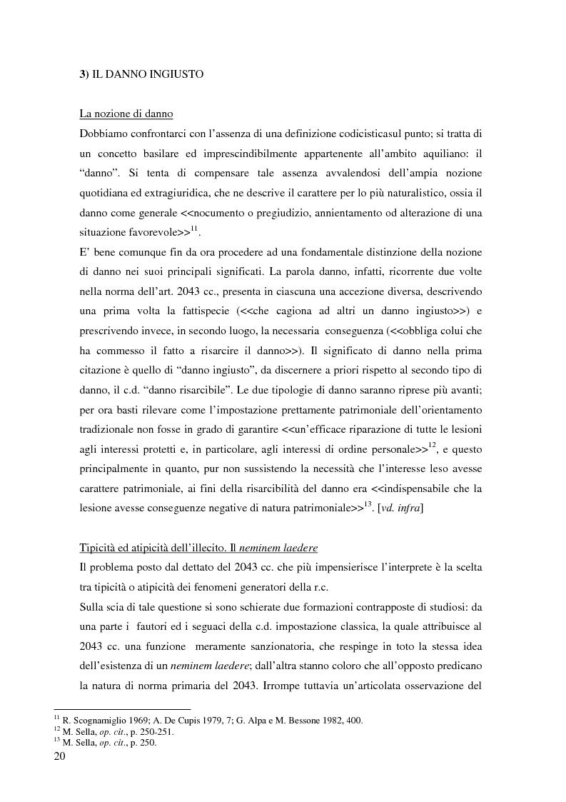 Anteprima della tesi: La risarcibilità del credito da morte del debitore nell'ordinamento italiano: un particolare sguardo alle vicende Superga e Meroni., Pagina 9