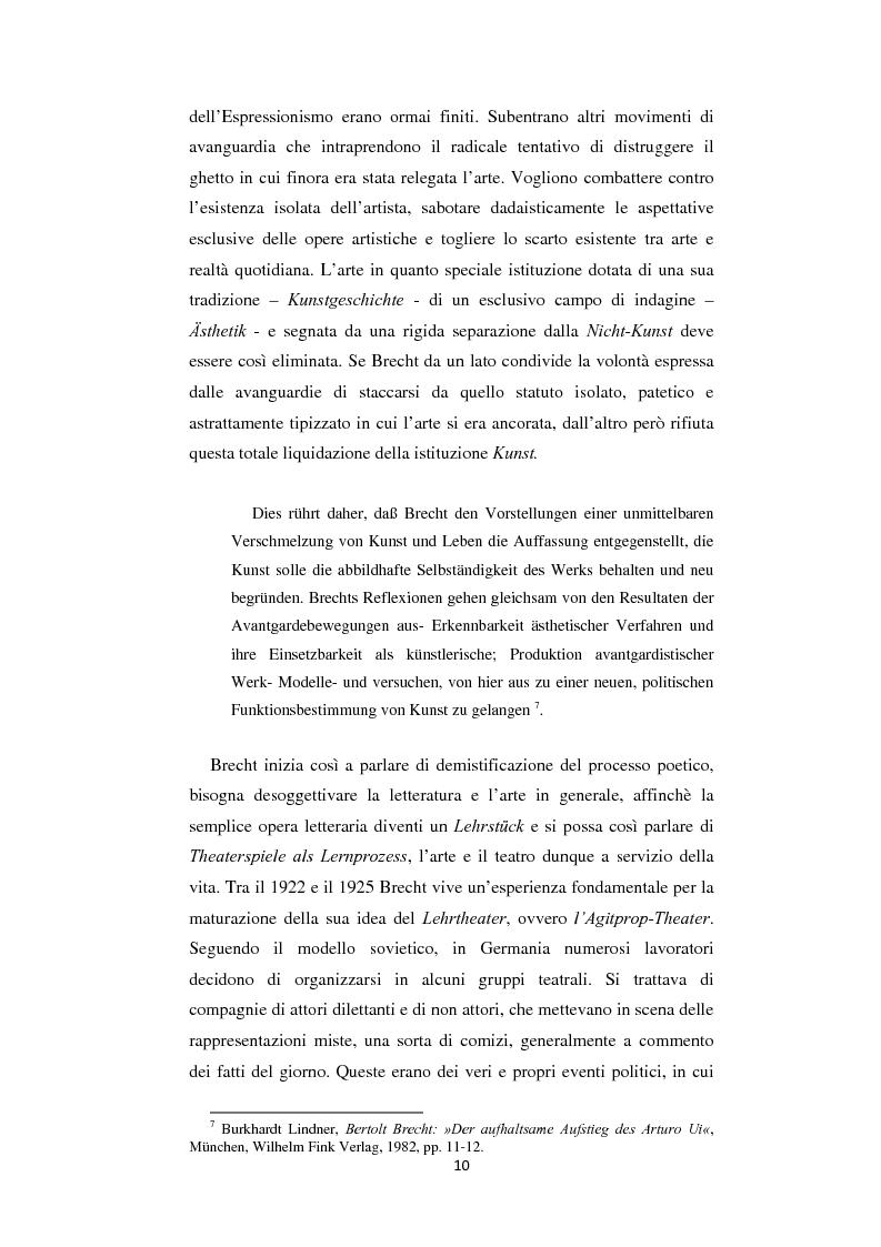 Anteprima della tesi: Il nazionalsocialismo nel teatro del tardo Brecht, Pagina 10