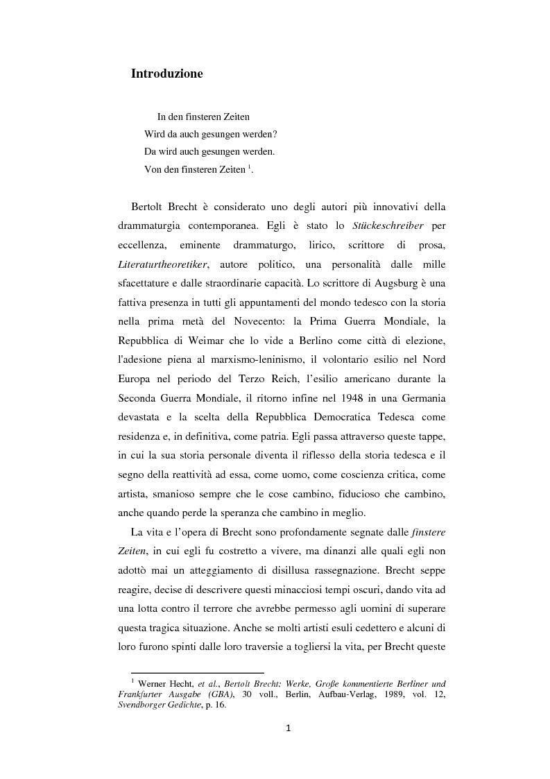 Anteprima della tesi: Il nazionalsocialismo nel teatro del tardo Brecht, Pagina 2