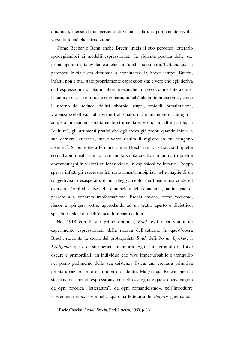 Anteprima della tesi: Il nazionalsocialismo nel teatro del tardo Brecht, Pagina 7