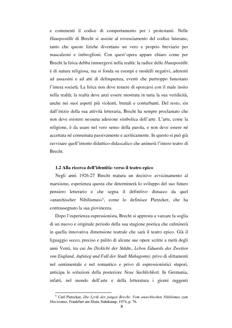 Anteprima della tesi: Il nazionalsocialismo nel teatro del tardo Brecht, Pagina 9