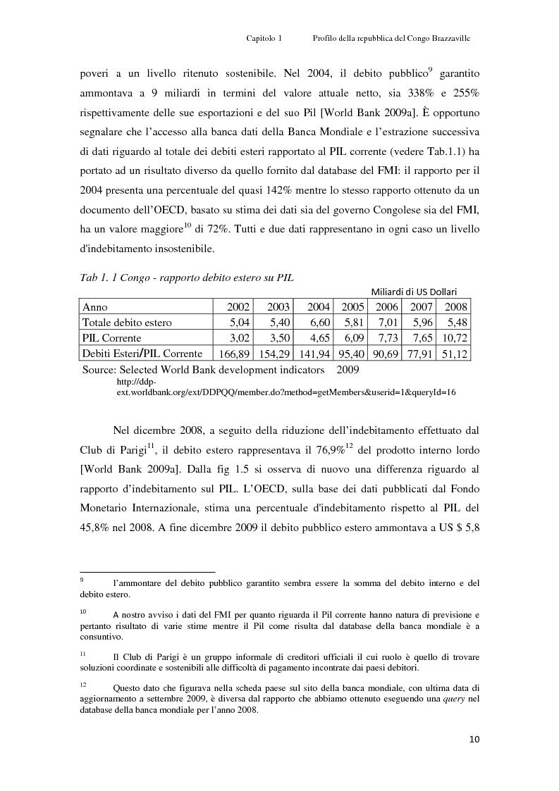 Estratto dalla tesi: Gli investimenti Eni in Congo Brazzaville: trade-off tra profitti e protezione dell'ambiente e della società civile