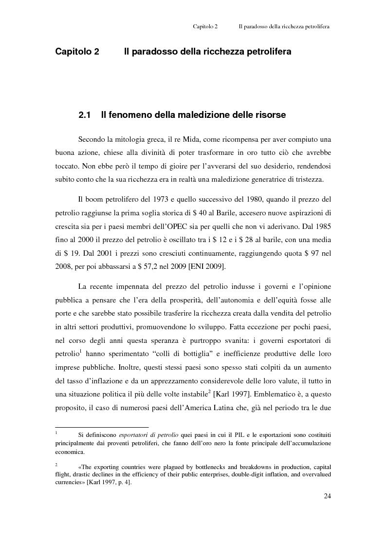 Anteprima della tesi: Gli investimenti Eni in Congo Brazzaville: trade-off tra profitti e protezione dell'ambiente e della società civile, Pagina 2