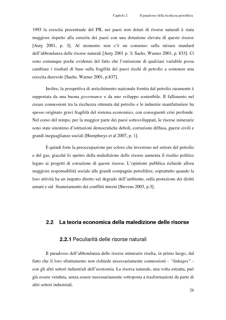 Anteprima della tesi: Gli investimenti Eni in Congo Brazzaville: trade-off tra profitti e protezione dell'ambiente e della società civile, Pagina 4