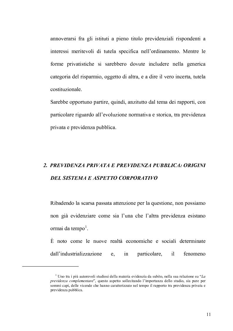 Anteprima della tesi: Regime fiscale della previdenza complementare, Pagina 12