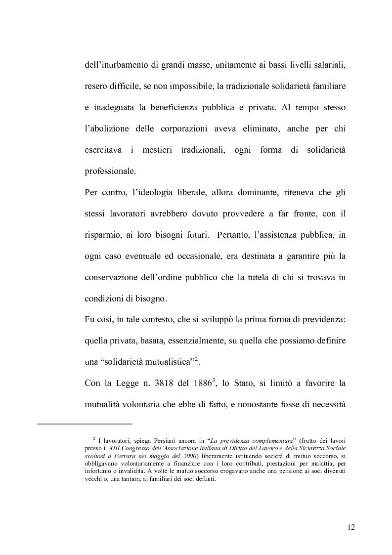 Anteprima della tesi: Regime fiscale della previdenza complementare, Pagina 13