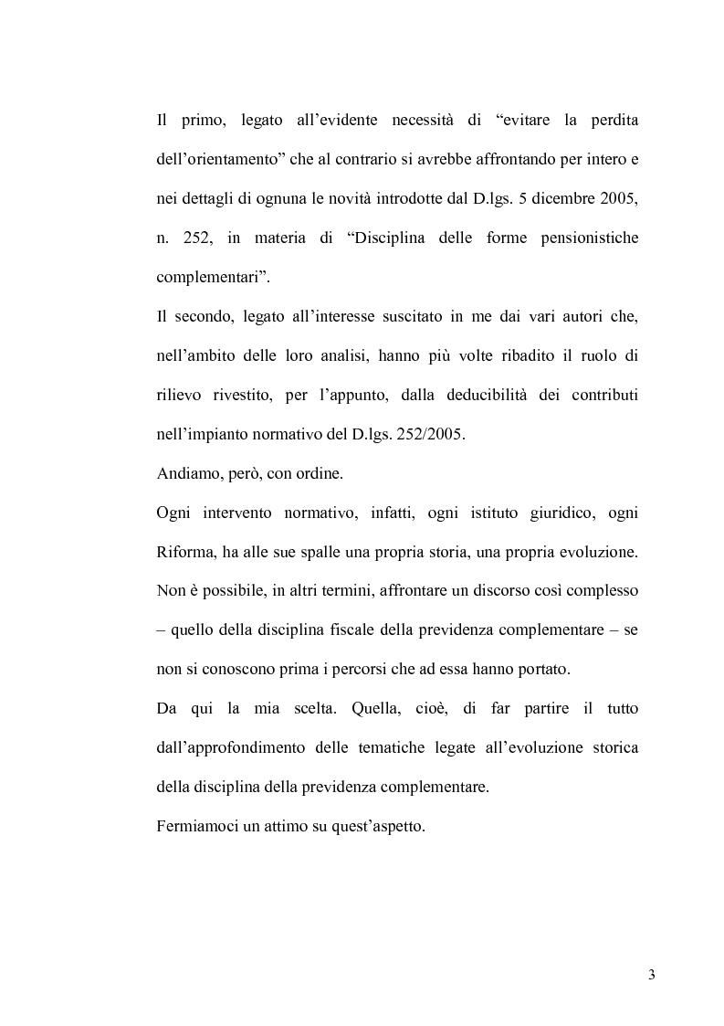 Anteprima della tesi: Regime fiscale della previdenza complementare, Pagina 4