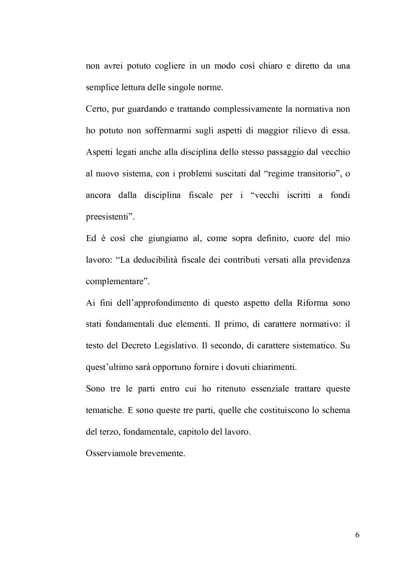 Anteprima della tesi: Regime fiscale della previdenza complementare, Pagina 7