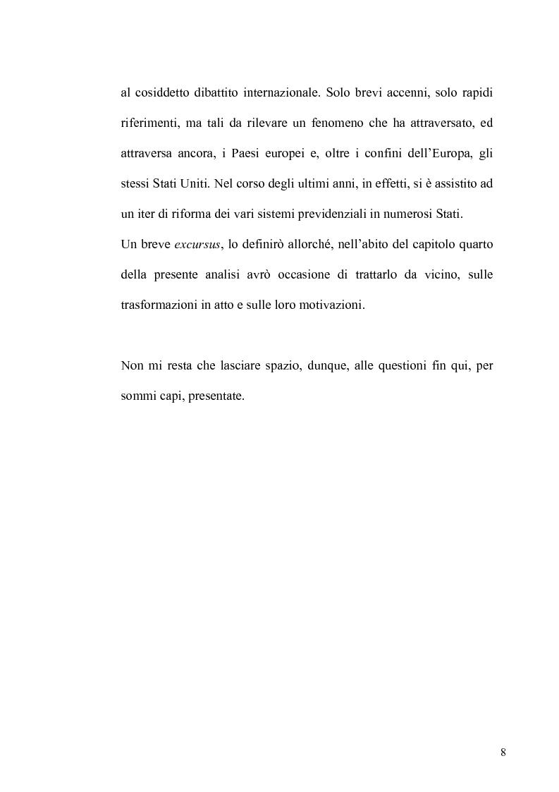 Anteprima della tesi: Regime fiscale della previdenza complementare, Pagina 9