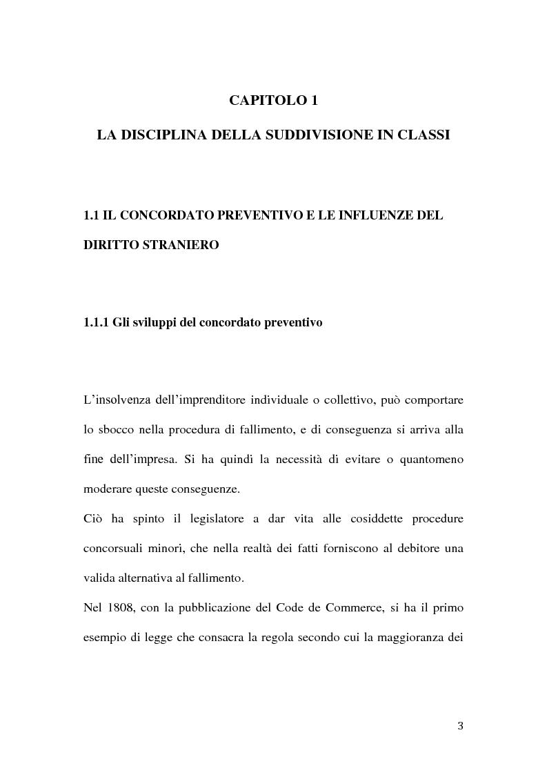 Anteprima della tesi: Le classi di creditori nel concordato preventivo, Pagina 2