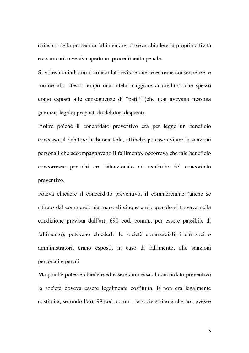 Anteprima della tesi: Le classi di creditori nel concordato preventivo, Pagina 4