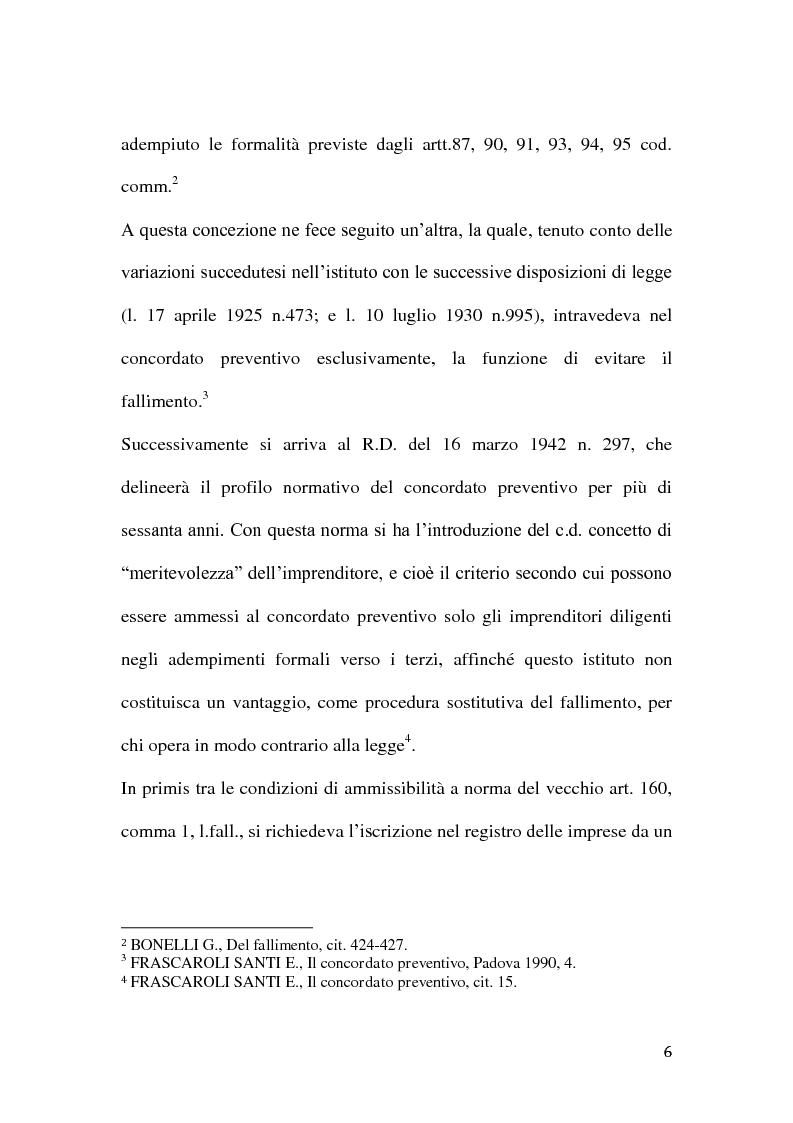 Anteprima della tesi: Le classi di creditori nel concordato preventivo, Pagina 5