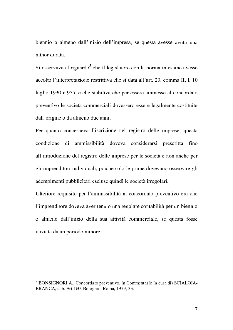 Anteprima della tesi: Le classi di creditori nel concordato preventivo, Pagina 6
