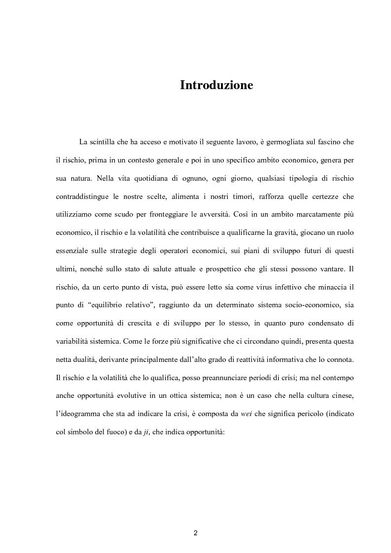 Anteprima della tesi: Modelli per lo studio della volatilità: analisi e applicazioni, Pagina 2