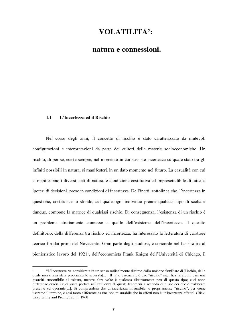 Anteprima della tesi: Modelli per lo studio della volatilità: analisi e applicazioni, Pagina 7