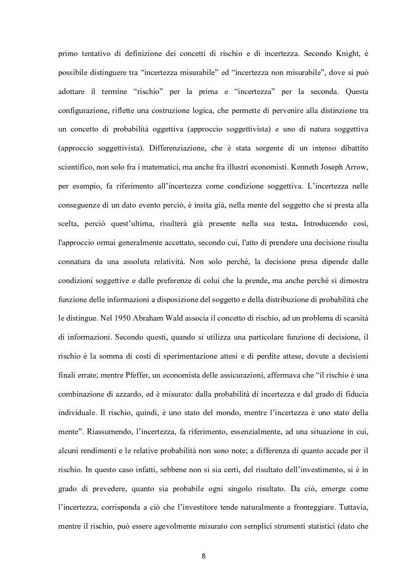 Anteprima della tesi: Modelli per lo studio della volatilità: analisi e applicazioni, Pagina 8