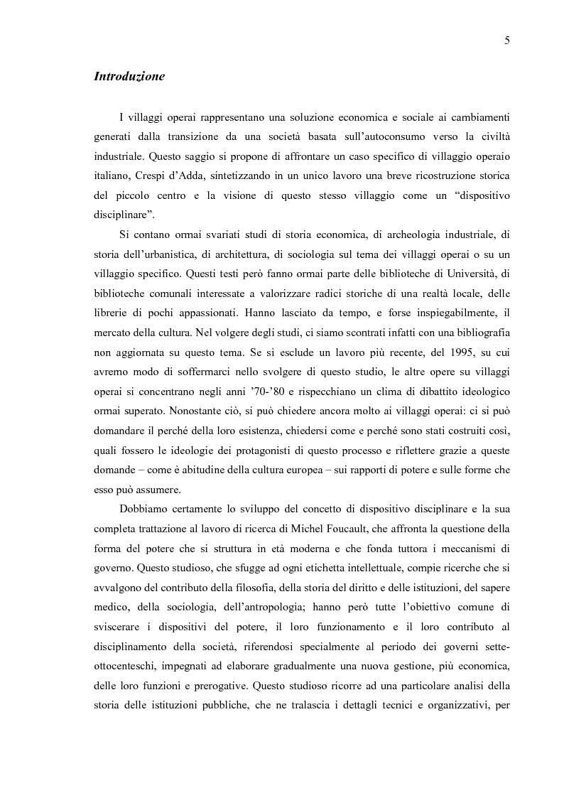 Anteprima della tesi: Crespi d'Adda. Il villaggio operaio come dispositivo disciplinare (1878-1920), Pagina 2