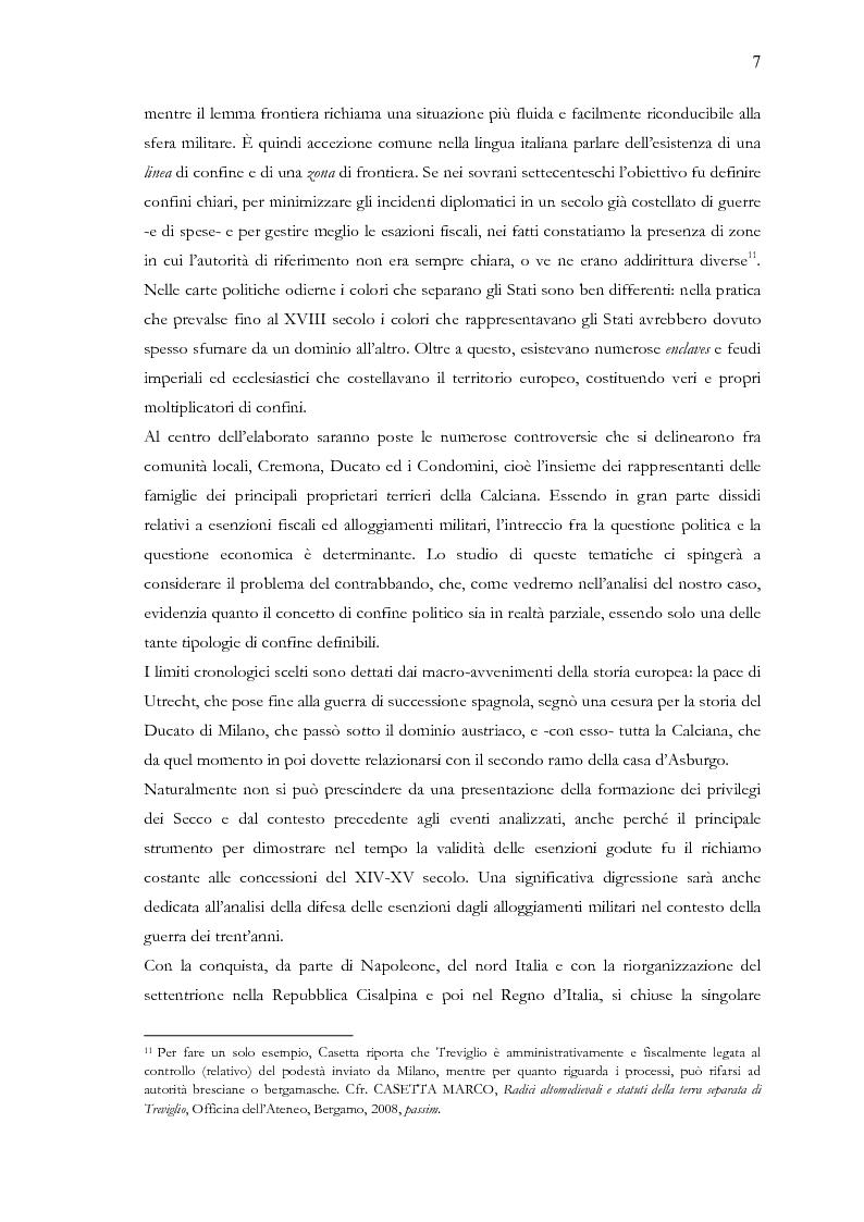 Anteprima della tesi: Una terra separata ai confini del Ducato. Privilegi ed esenzioni della Calciana nel XVIII secolo, Pagina 4