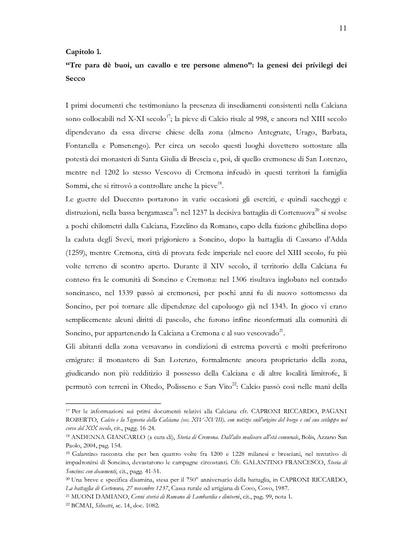 Anteprima della tesi: Una terra separata ai confini del Ducato. Privilegi ed esenzioni della Calciana nel XVIII secolo, Pagina 8