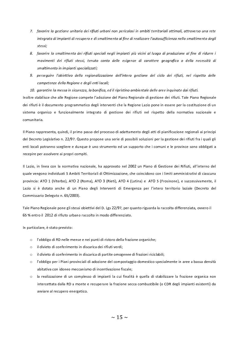Anteprima della tesi: Trattamento e smaltimento dei Rifiuti Solidi Urbani all'interno del Parco Nazionale del Circeo, Pagina 11