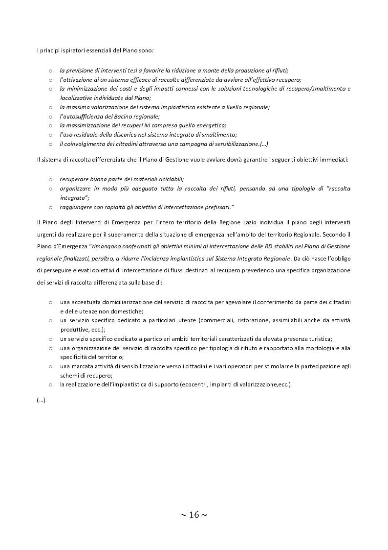 Anteprima della tesi: Trattamento e smaltimento dei Rifiuti Solidi Urbani all'interno del Parco Nazionale del Circeo, Pagina 12