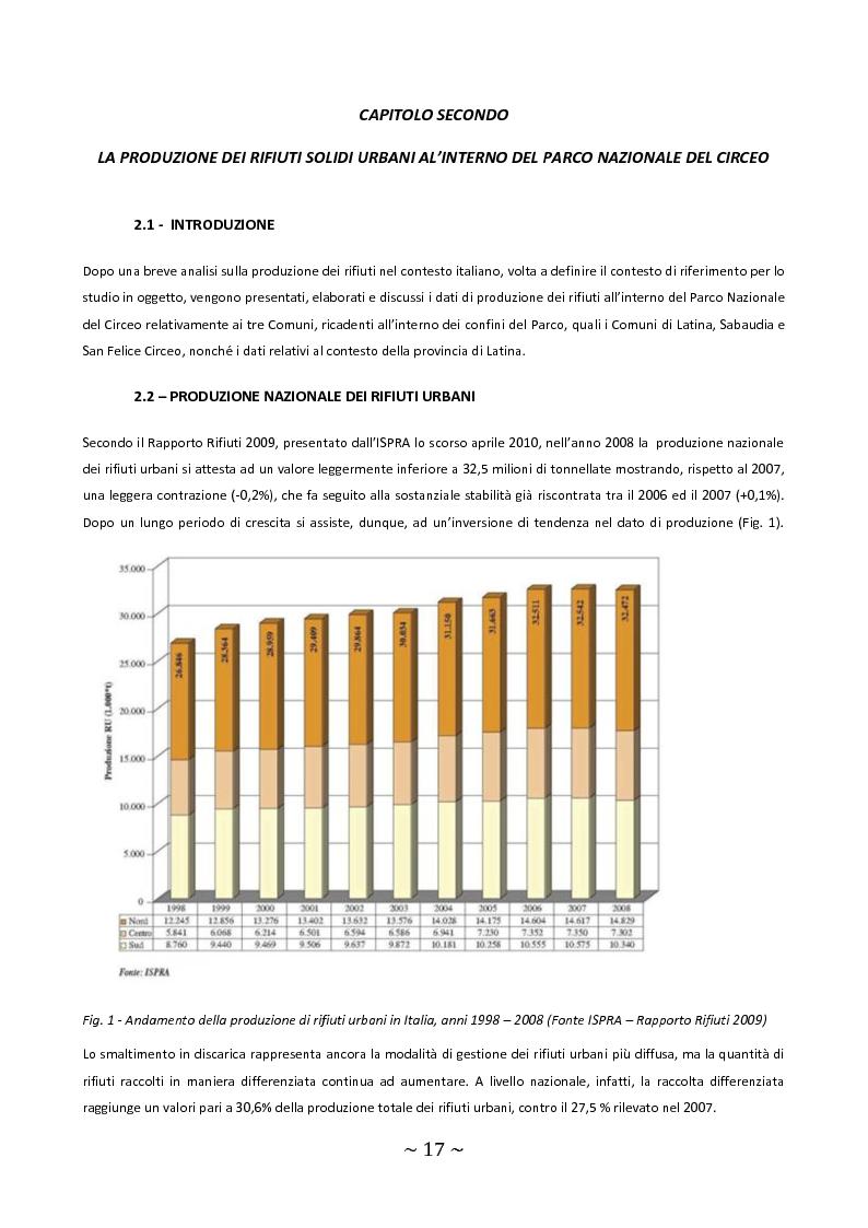 Anteprima della tesi: Trattamento e smaltimento dei Rifiuti Solidi Urbani all'interno del Parco Nazionale del Circeo, Pagina 13