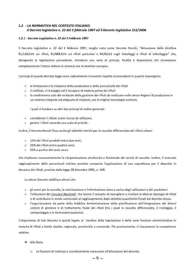 Anteprima della tesi: Trattamento e smaltimento dei Rifiuti Solidi Urbani all'interno del Parco Nazionale del Circeo, Pagina 5