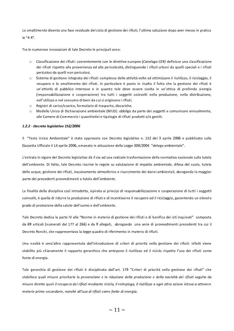 Anteprima della tesi: Trattamento e smaltimento dei Rifiuti Solidi Urbani all'interno del Parco Nazionale del Circeo, Pagina 7