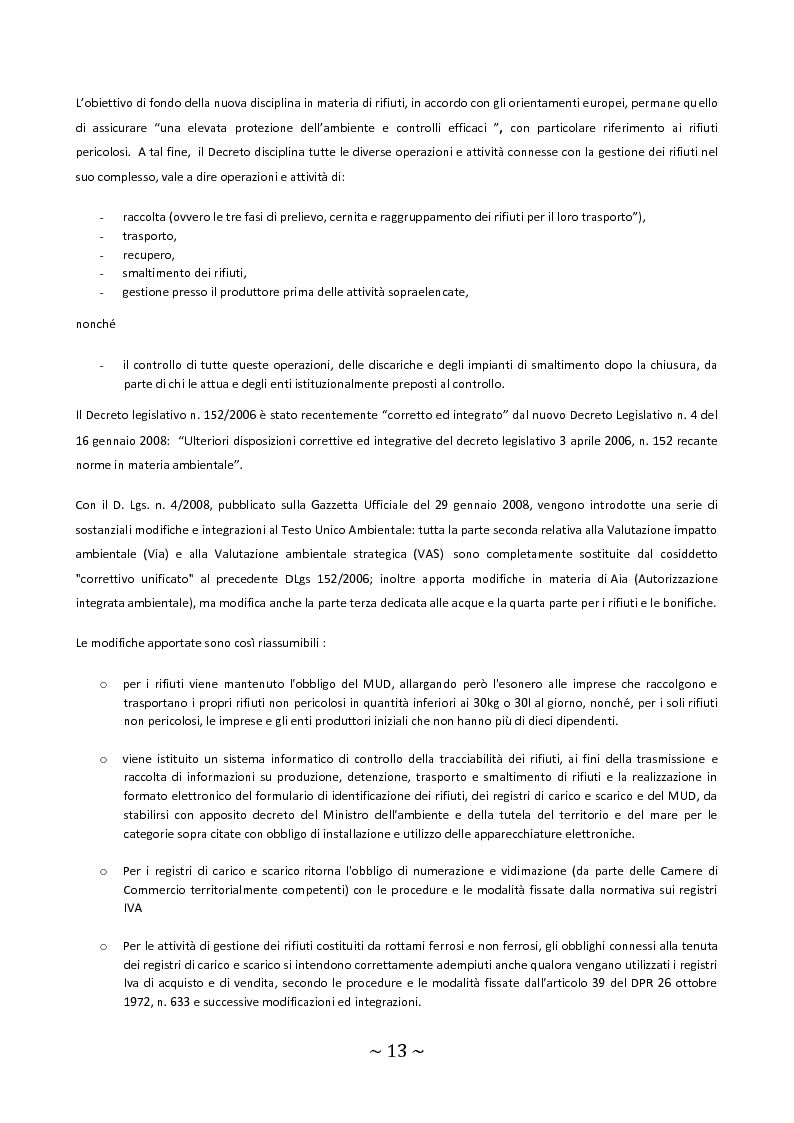 Anteprima della tesi: Trattamento e smaltimento dei Rifiuti Solidi Urbani all'interno del Parco Nazionale del Circeo, Pagina 9