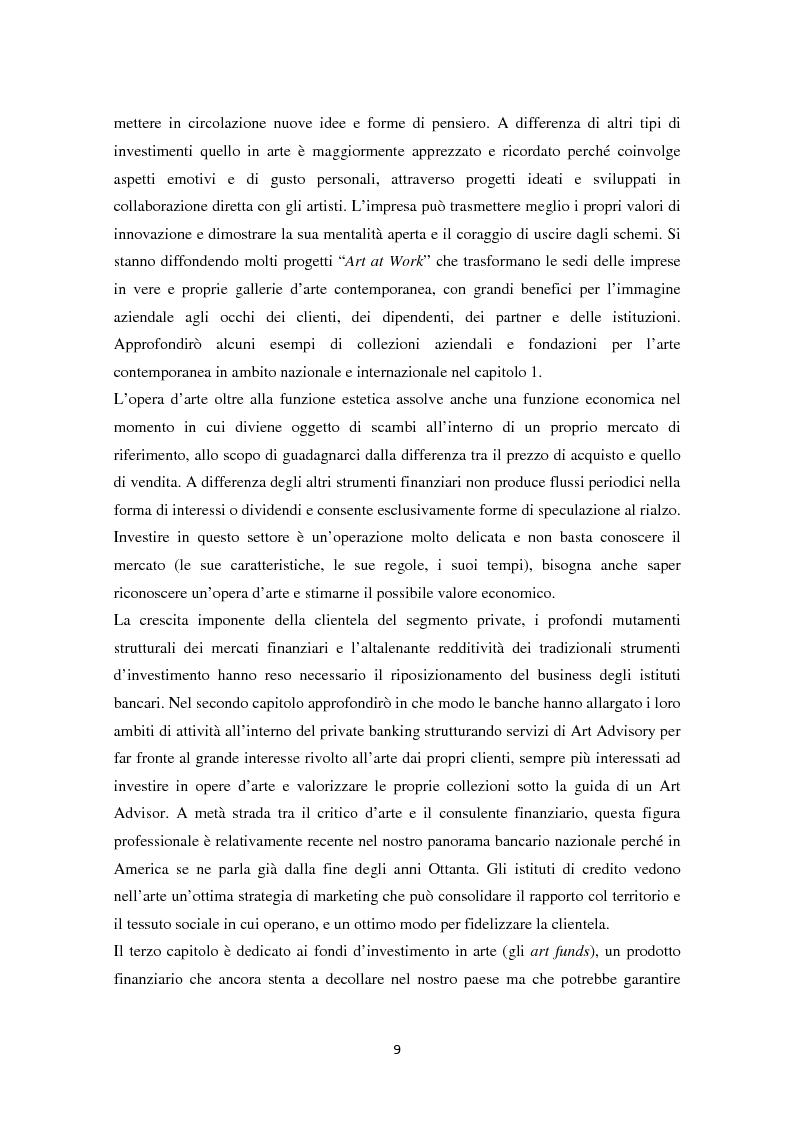 Anteprima della tesi: Investire in Arte Contemporanea, Pagina 6