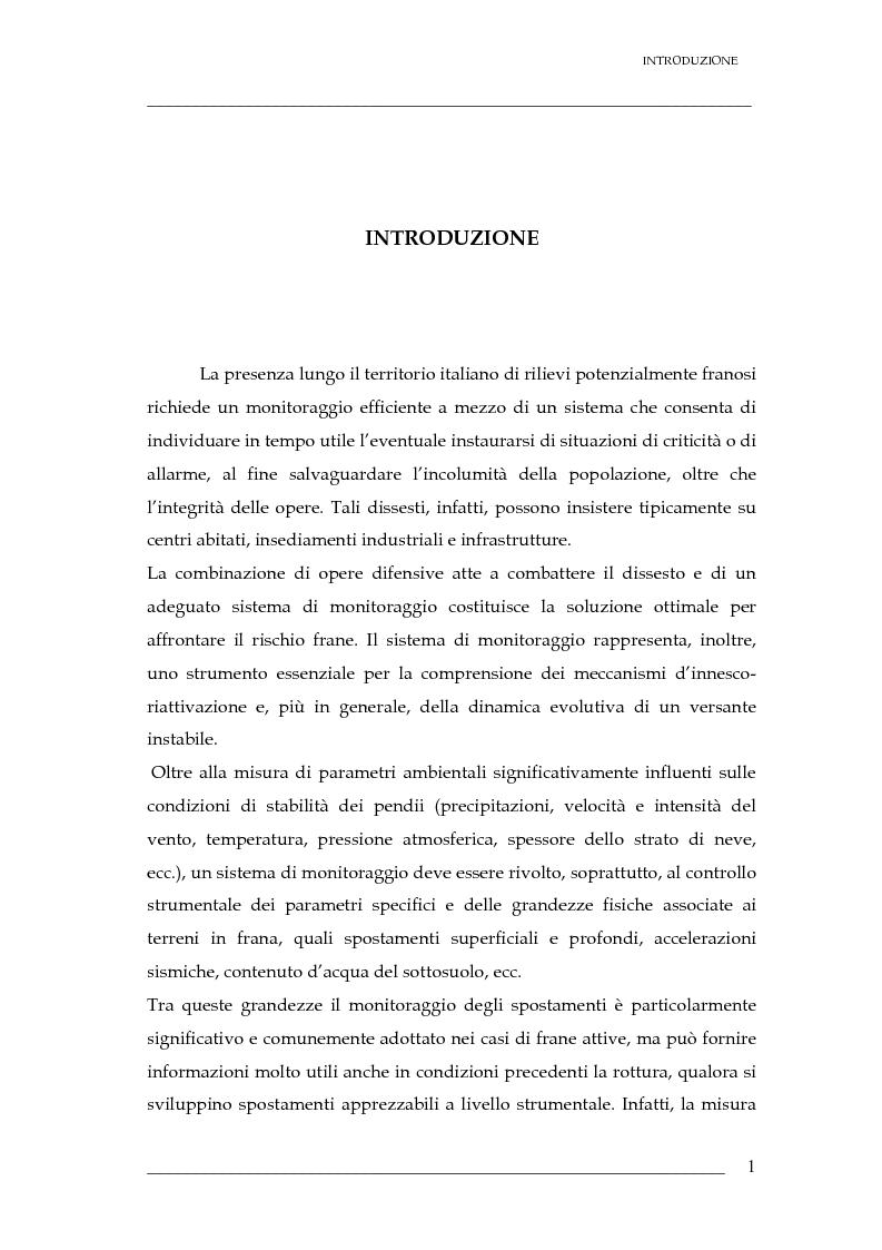 Anteprima della tesi: Validazione di un sistema di sensori di spostamenti per il monitoraggio delle frane, Pagina 2
