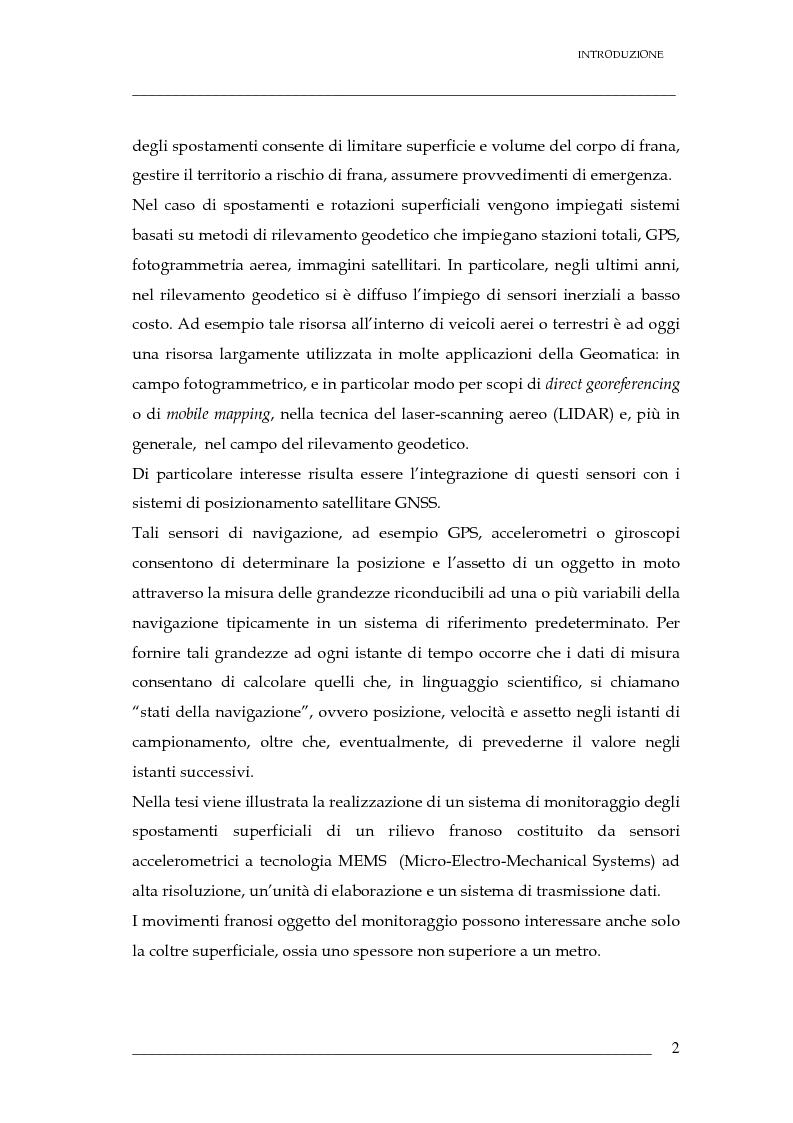 Anteprima della tesi: Validazione di un sistema di sensori di spostamenti per il monitoraggio delle frane, Pagina 3