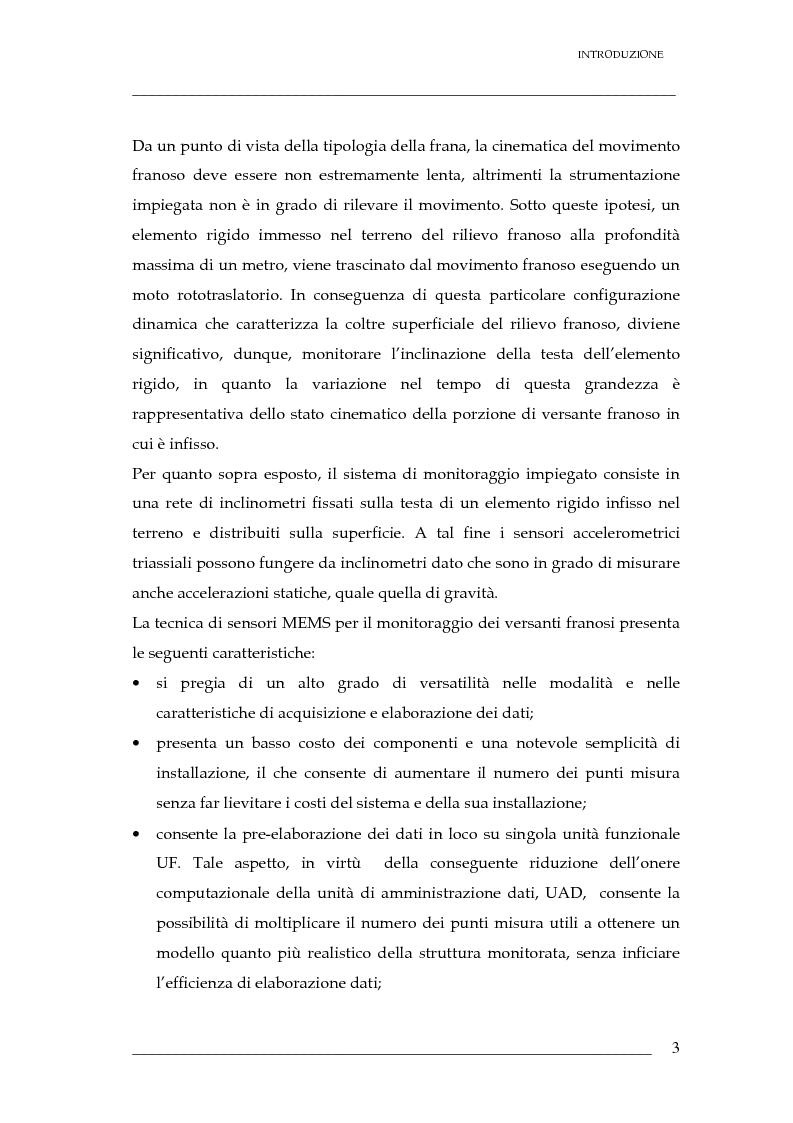 Anteprima della tesi: Validazione di un sistema di sensori di spostamenti per il monitoraggio delle frane, Pagina 4