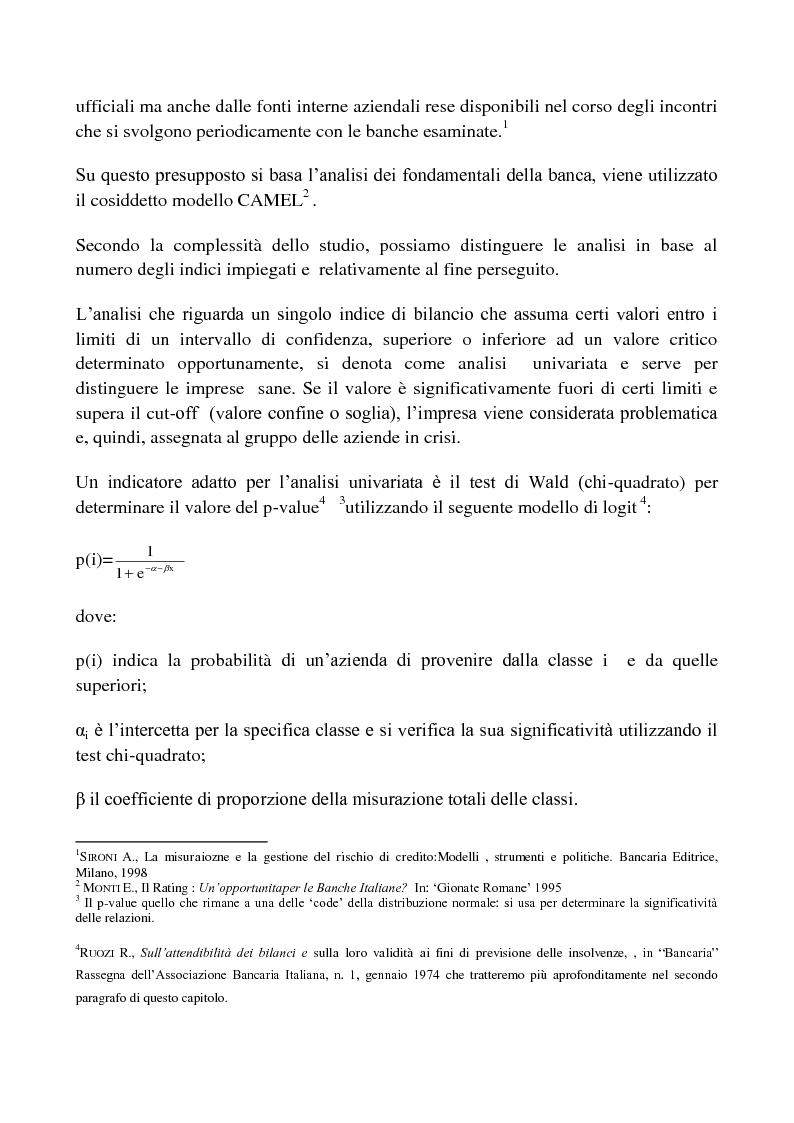 Anteprima della tesi: Procedure di Rating. Punti di forza e punti di debolezza, Pagina 3