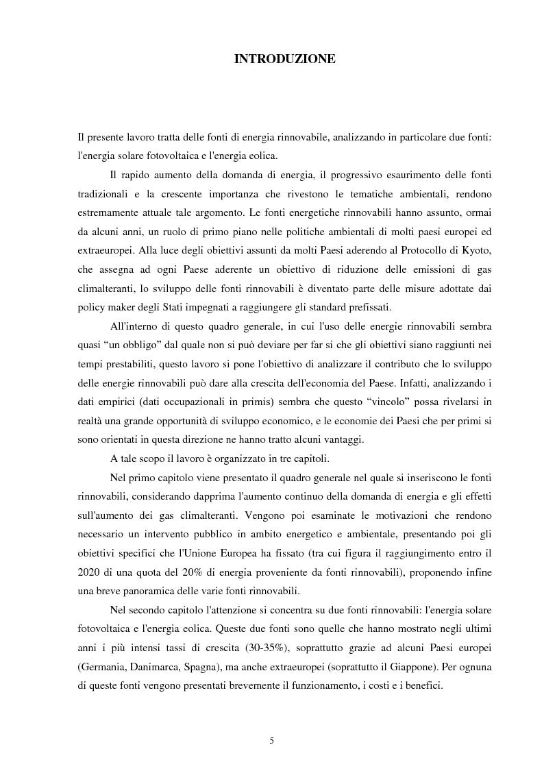 Anteprima della tesi: Le fonti energetiche rinnovabili: un'opportunità di crescita, Pagina 2