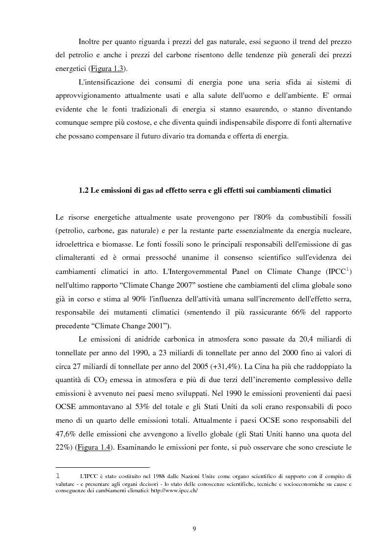 Anteprima della tesi: Le fonti energetiche rinnovabili: un'opportunità di crescita, Pagina 6