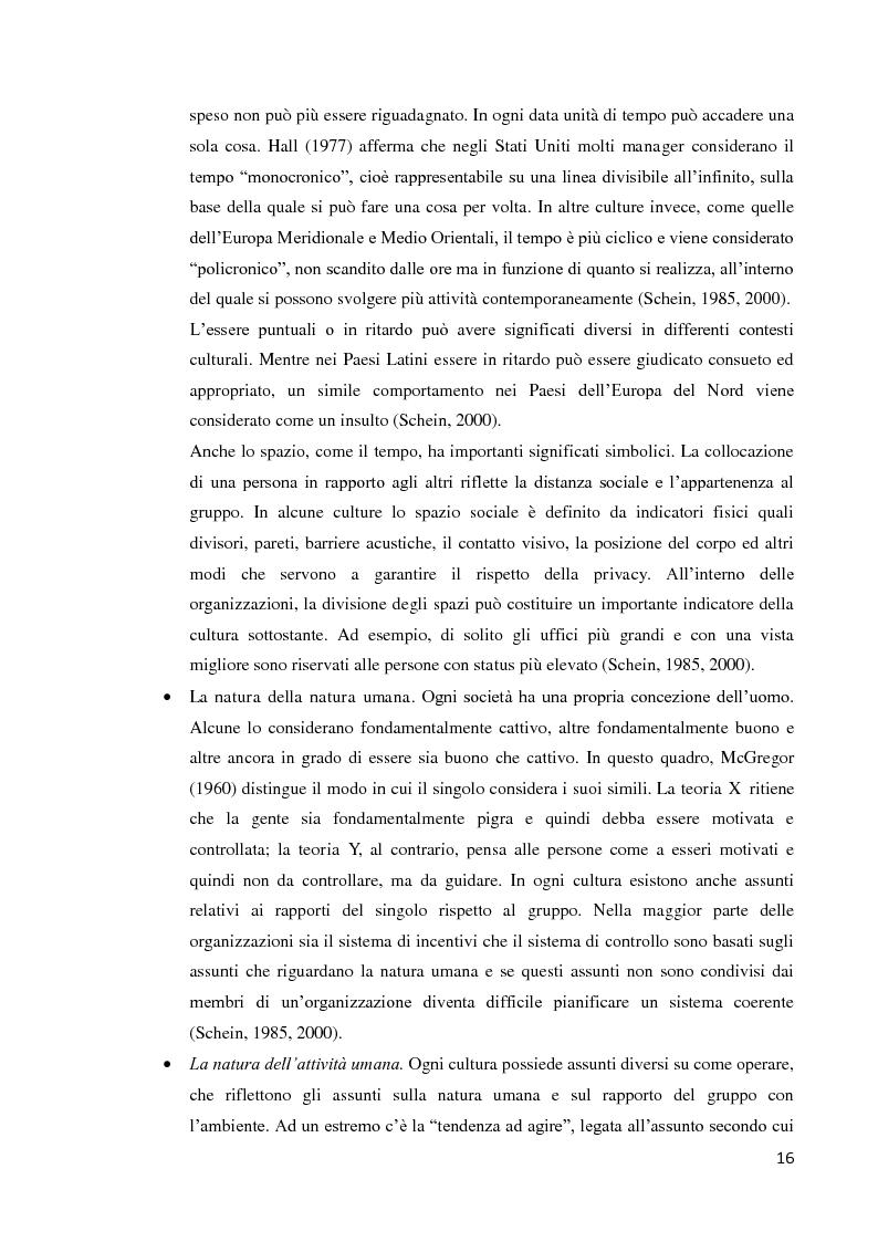 Anteprima della tesi: Il ruolo della cultura organizzativa nel goal setting di gruppo in un contesto bancario, Pagina 11