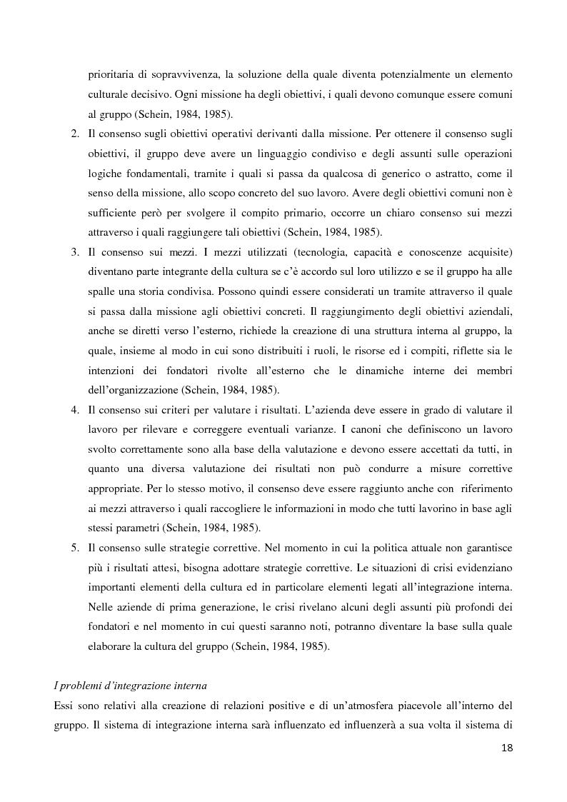 Anteprima della tesi: Il ruolo della cultura organizzativa nel goal setting di gruppo in un contesto bancario, Pagina 13