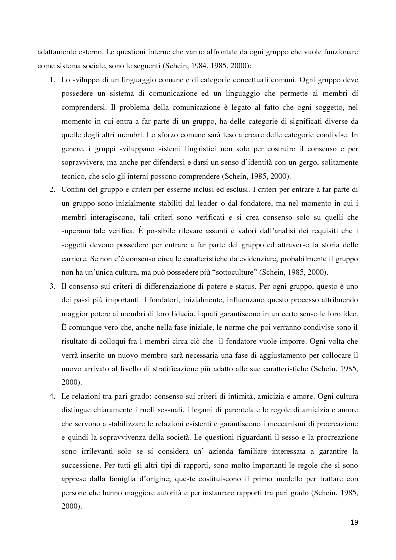 Anteprima della tesi: Il ruolo della cultura organizzativa nel goal setting di gruppo in un contesto bancario, Pagina 14