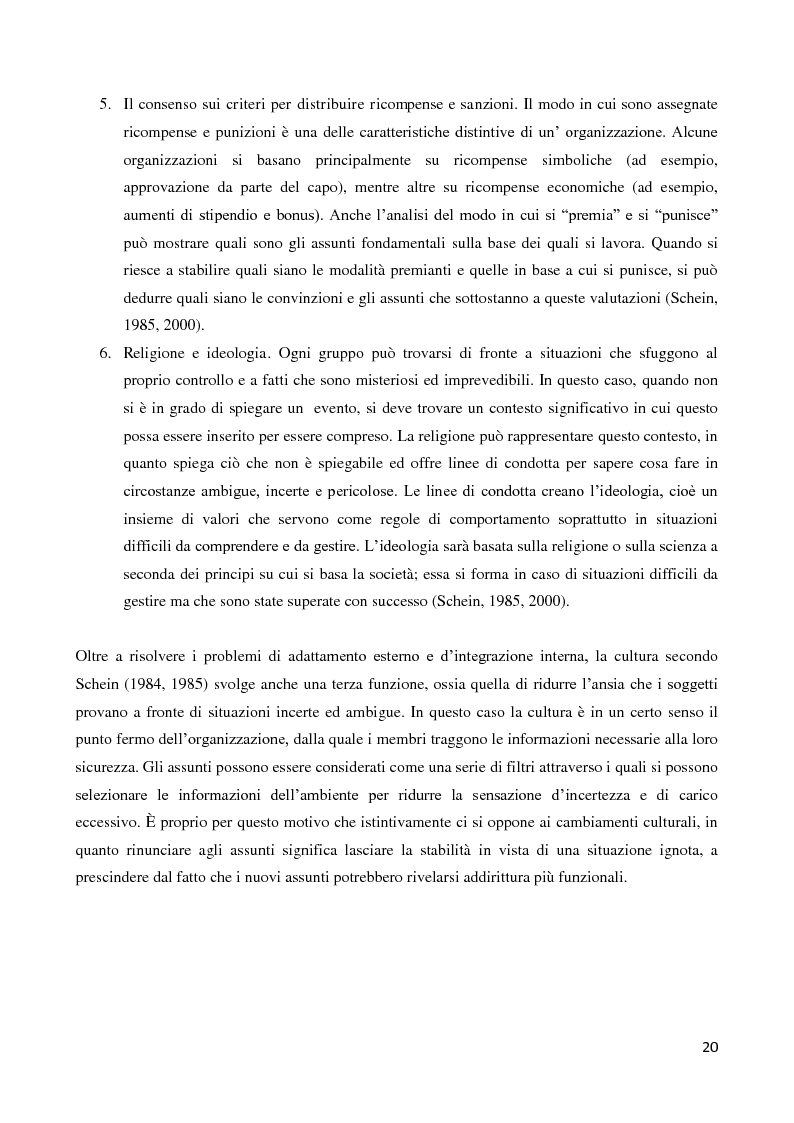 Anteprima della tesi: Il ruolo della cultura organizzativa nel goal setting di gruppo in un contesto bancario, Pagina 15
