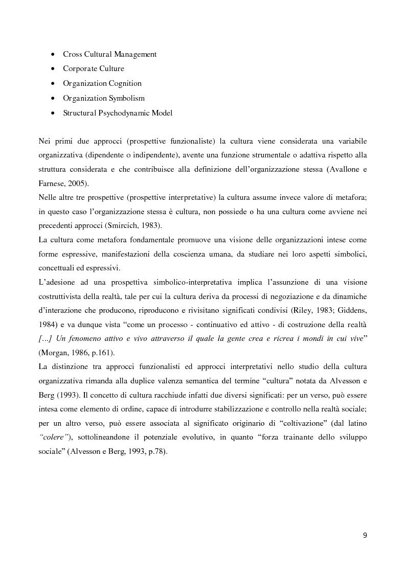 Anteprima della tesi: Il ruolo della cultura organizzativa nel goal setting di gruppo in un contesto bancario, Pagina 4