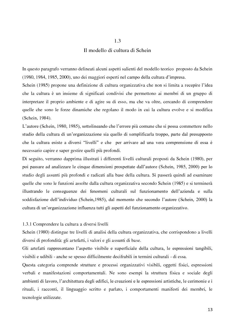Anteprima della tesi: Il ruolo della cultura organizzativa nel goal setting di gruppo in un contesto bancario, Pagina 8
