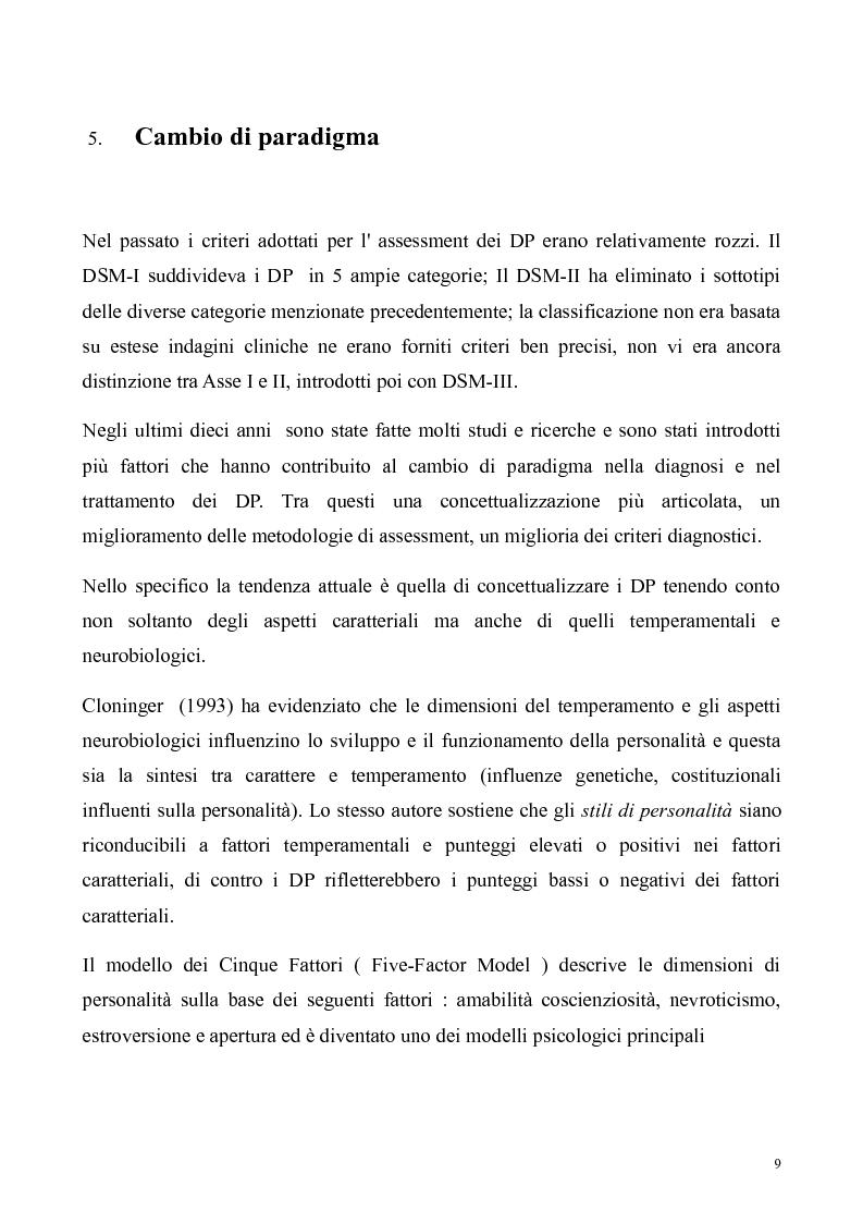Anteprima della tesi: ''Al di là dei confini''. Disturbo Borderline di Personalità. Un ipotesi integrativa tra i modelli psicoanalitico e cognitivo, Pagina 10