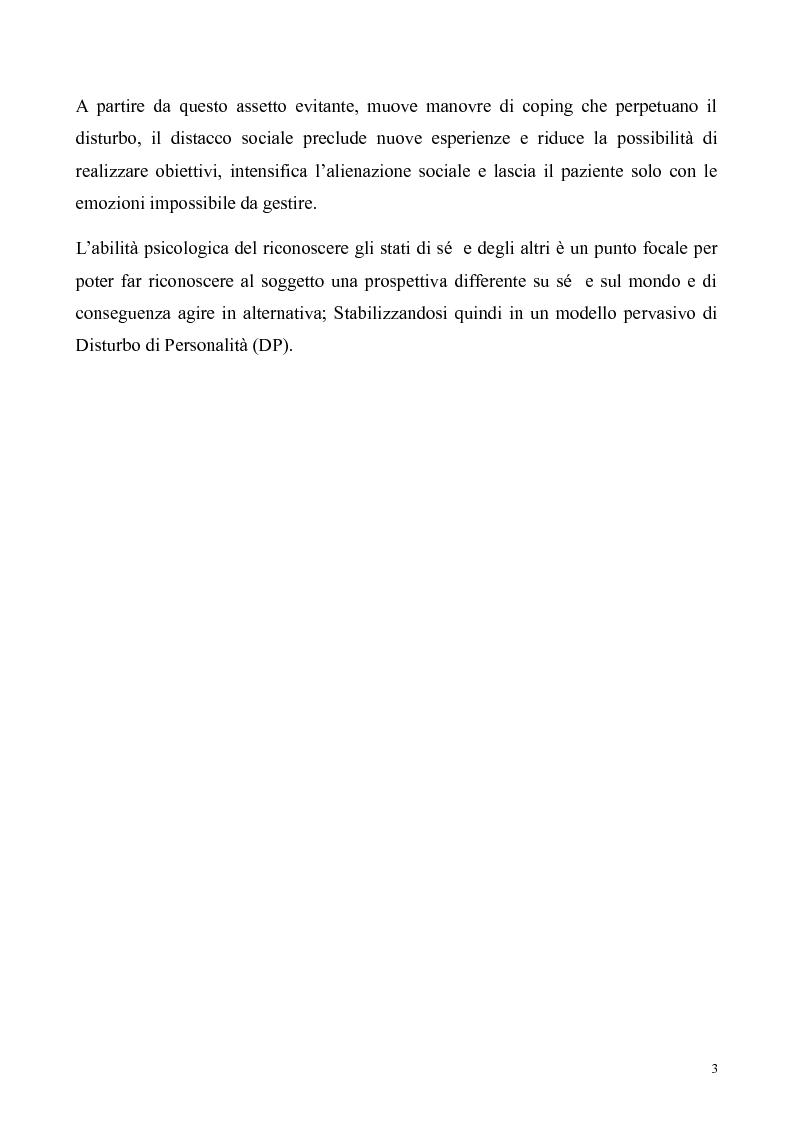Anteprima della tesi: ''Al di là dei confini''. Disturbo Borderline di Personalità. Un ipotesi integrativa tra i modelli psicoanalitico e cognitivo, Pagina 4