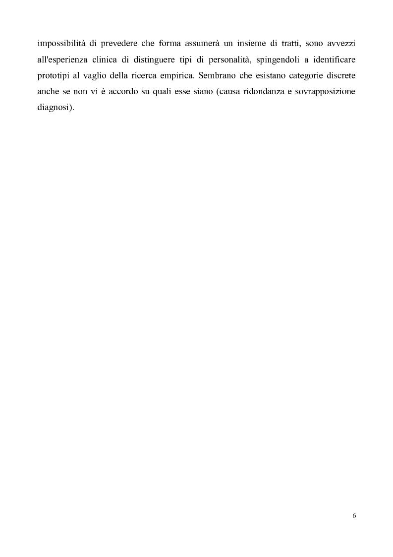 Anteprima della tesi: ''Al di là dei confini''. Disturbo Borderline di Personalità. Un ipotesi integrativa tra i modelli psicoanalitico e cognitivo, Pagina 7