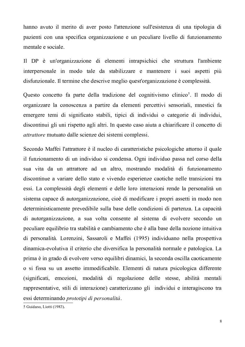 Anteprima della tesi: ''Al di là dei confini''. Disturbo Borderline di Personalità. Un ipotesi integrativa tra i modelli psicoanalitico e cognitivo, Pagina 9