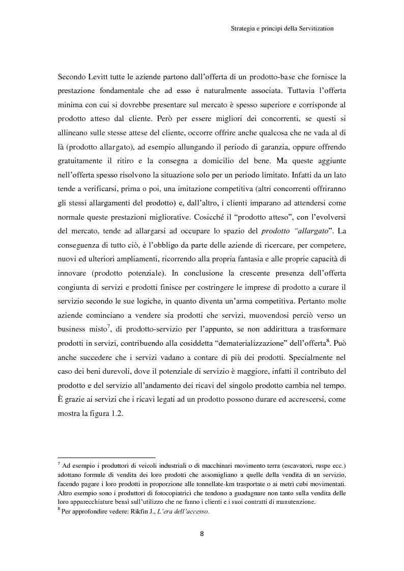 Anteprima della tesi: Valore per il cliente e riprogettazione della service-chain: un'applicazione nel settore dell'elettrodomestico bianco., Pagina 13
